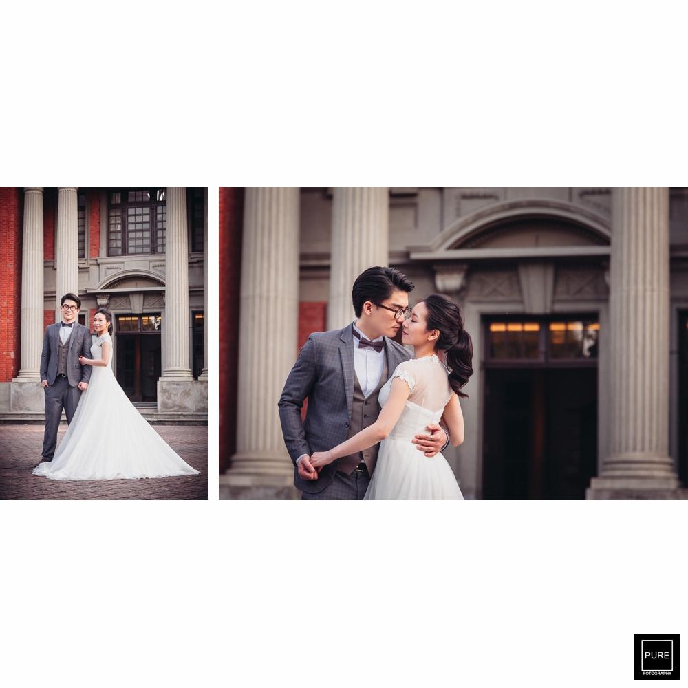 建築背景婚紗照