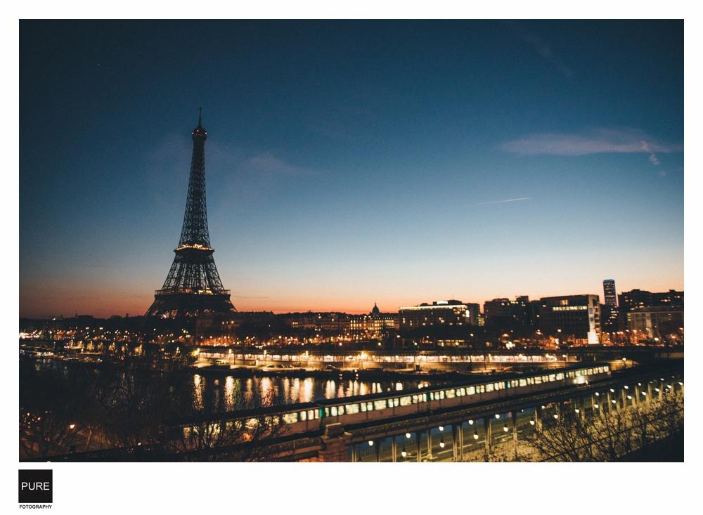 巴黎鐵塔夜景海外婚紗