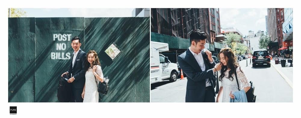 PUREFOTO_海外婚紗攝影Oversea_Prewedding_紐約婚紗,街拍婚紗攝影推薦
