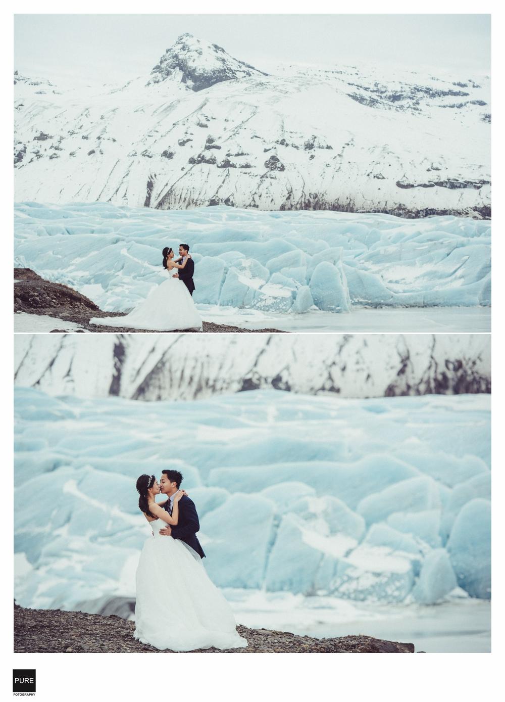 PUREFOTO_海外婚禮平面攝影Oversea_wedding_冰島婚紗-冰河湖婚紗