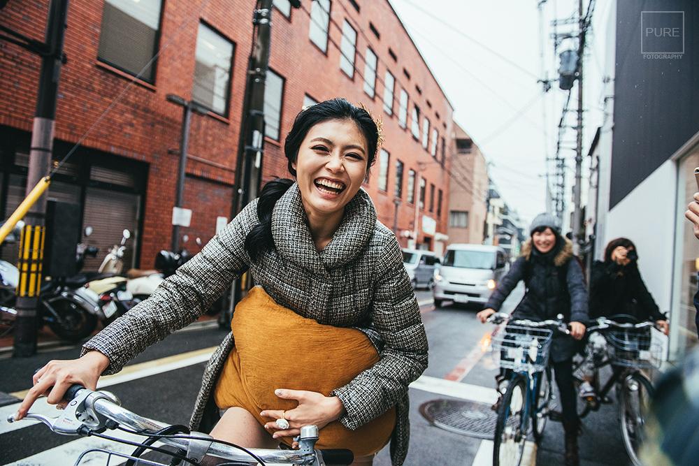 PUREFOTO_海外婚禮平面攝影Oversea_wedding_京都婚紗-腳踏車