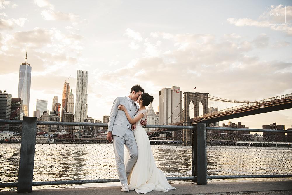 PUREFOTO_海外婚禮平面攝影Oversea_wedding_紐約婚紗-布魯克林大橋自助婚紗