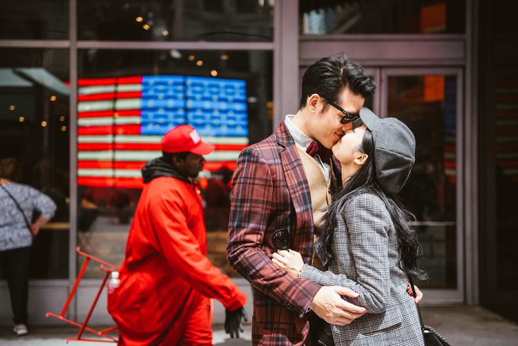 海外婚紗,紐約婚紗新郎,時代廣場