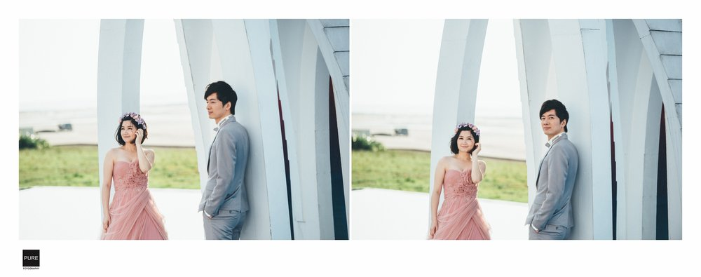 PUREFOTO_台灣自助婚紗攝影Prewedding_淡水莊園婚紗拍攝水上教堂