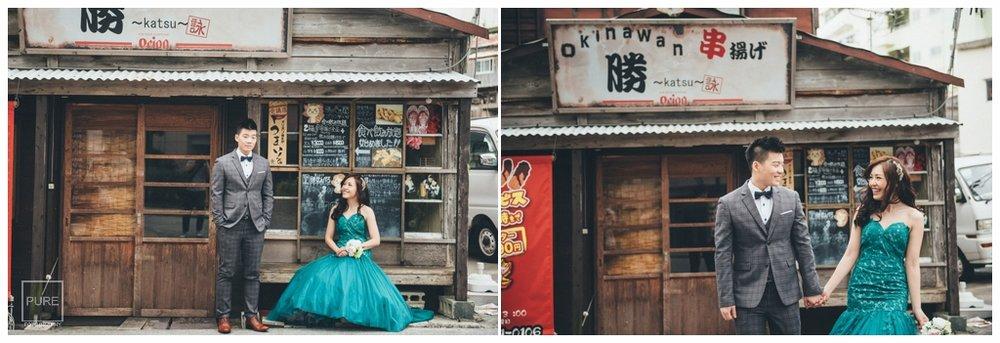 日式建築背景婚紗拍攝