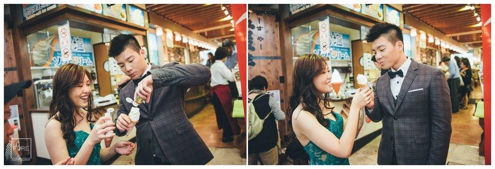 PUREFOTO_海外婚紗攝影Oversea_Prewedding_沖繩牧志市場吃鹽冰婚紗拍攝