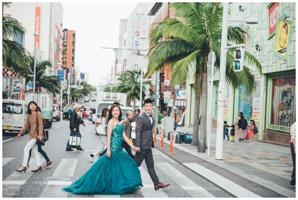 PUREFOTO_海外婚紗攝影Oversea_Prewedding_沖繩國際通過馬路婚紗拍攝
