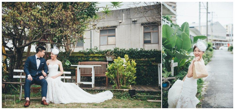 沖繩海外婚紗,外人住宅婚紗拍攝白紗
