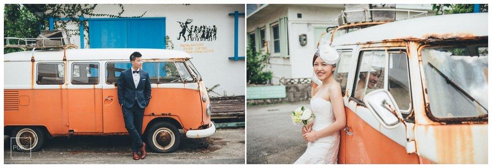 PUREFOTO_海外婚紗攝影Oversea_Prewedding_橘色麵包車婚紗拍攝