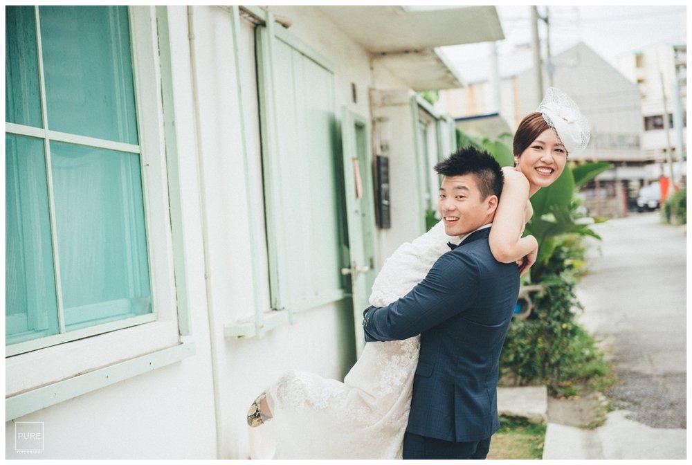 沖繩婚紗拍攝外人住宅婚紗拍攝