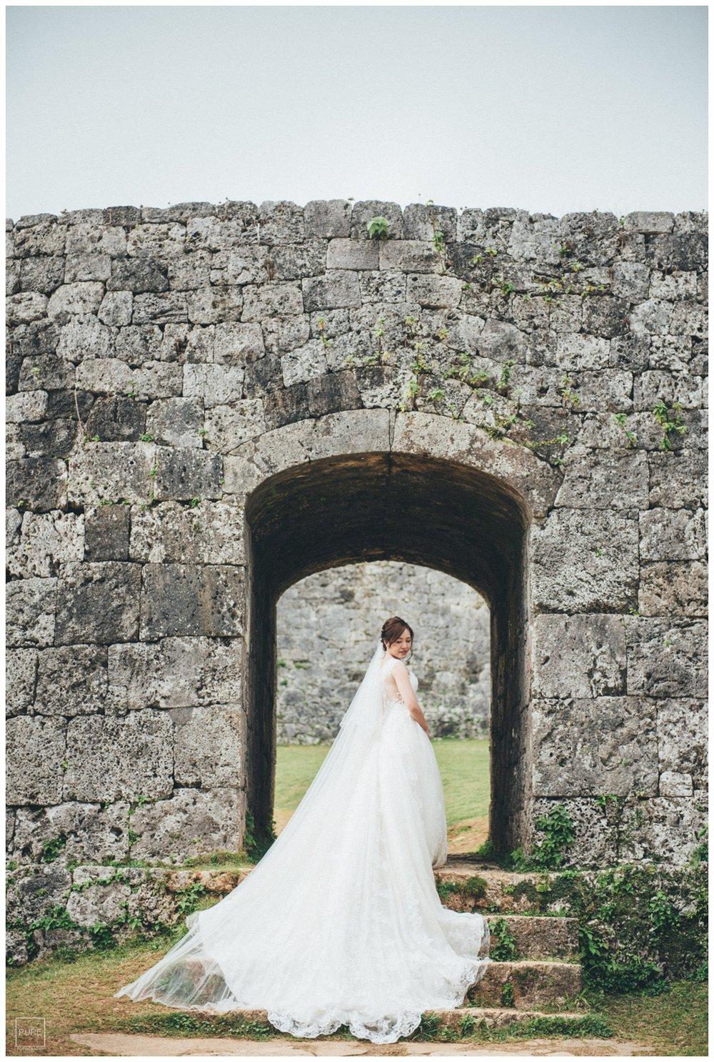 PUREFOTO_海外婚紗攝影Oversea_Prewedding_座喜味城白紗婚紗拍攝