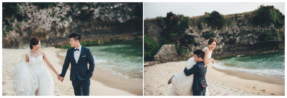 殘波峽海灘婚紗白紗拍攝