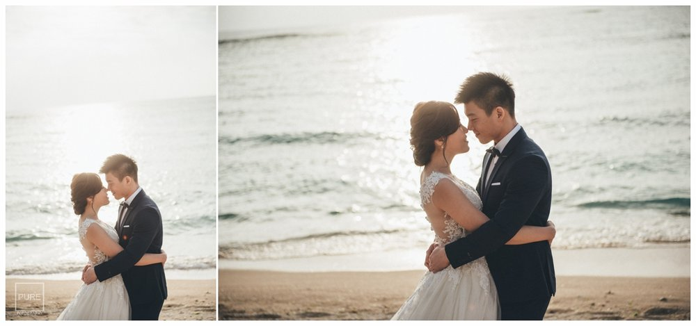PUREFOTO_海外婚紗攝影Oversea_Prewedding_殘波峽海灘婚紗白紗拍攝
