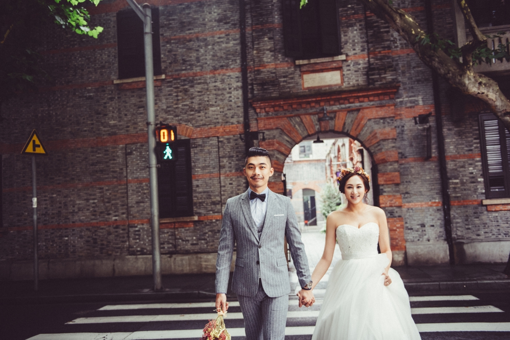 PUREFOTO_海外婚紗攝影Oversea_Prewedding_街景婚紗拍攝,上海婚紗