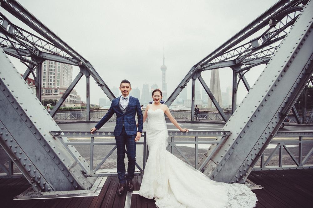 外白渡橋婚紗攝影,上海海外婚紗