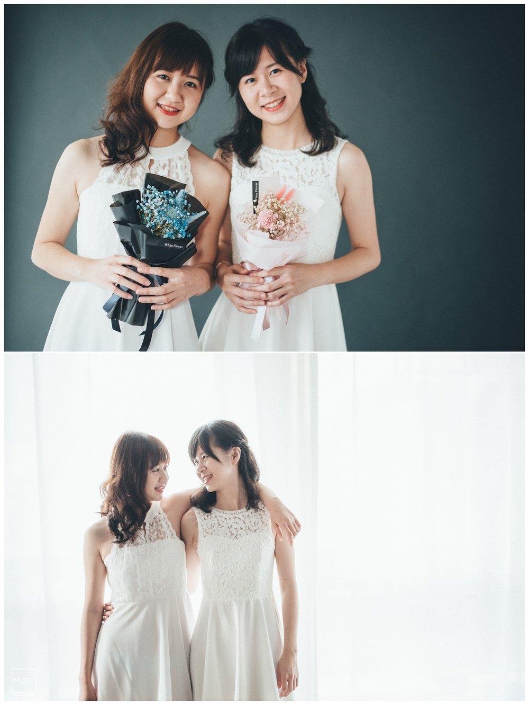 姊妹sister白色小禮服棚拍寫真