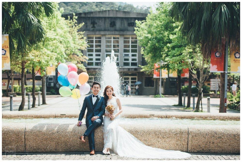 PUREFOTO_台灣自助婚紗攝影Prewedding_噴水池婚紗照