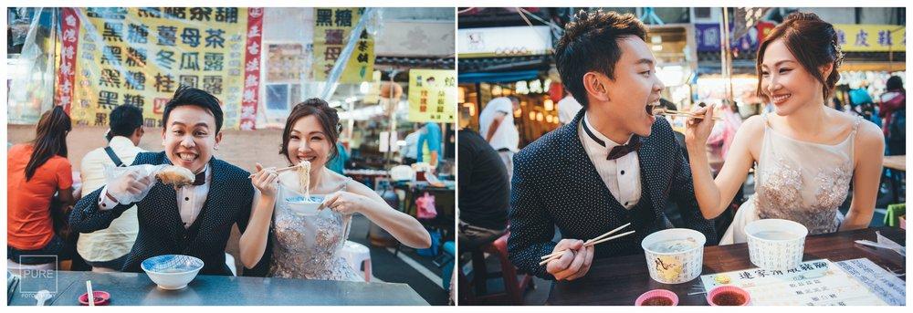 PUREFOTO_台灣自助婚紗攝影Prewedding_饒河夜市玩拍婚紗