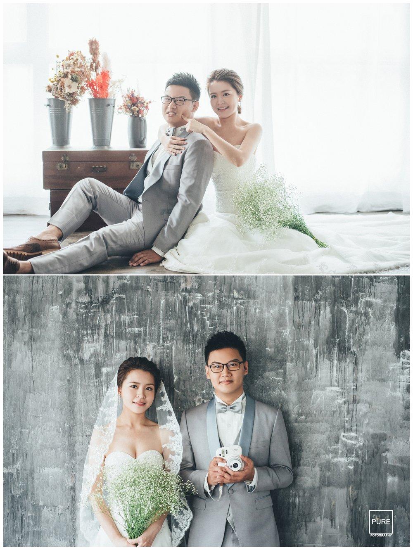 PUREFOTO_台灣自助婚紗攝影Prewedding_棚拍逆光窗景婚紗