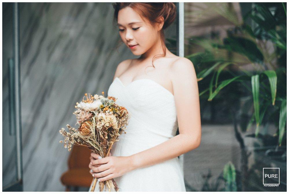 PUREFOTO_台灣自助婚紗攝影Prewedding_乾燥捧花白紗婚紗