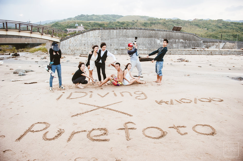 """最後是大家最喜歡的沙灘樂趣""""沙灘畫""""~~  用歡樂的大合照和大家說再見了 哈哈"""