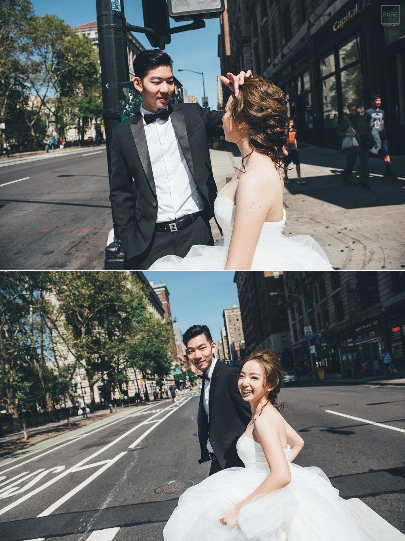 紐約街景婚紗攝影