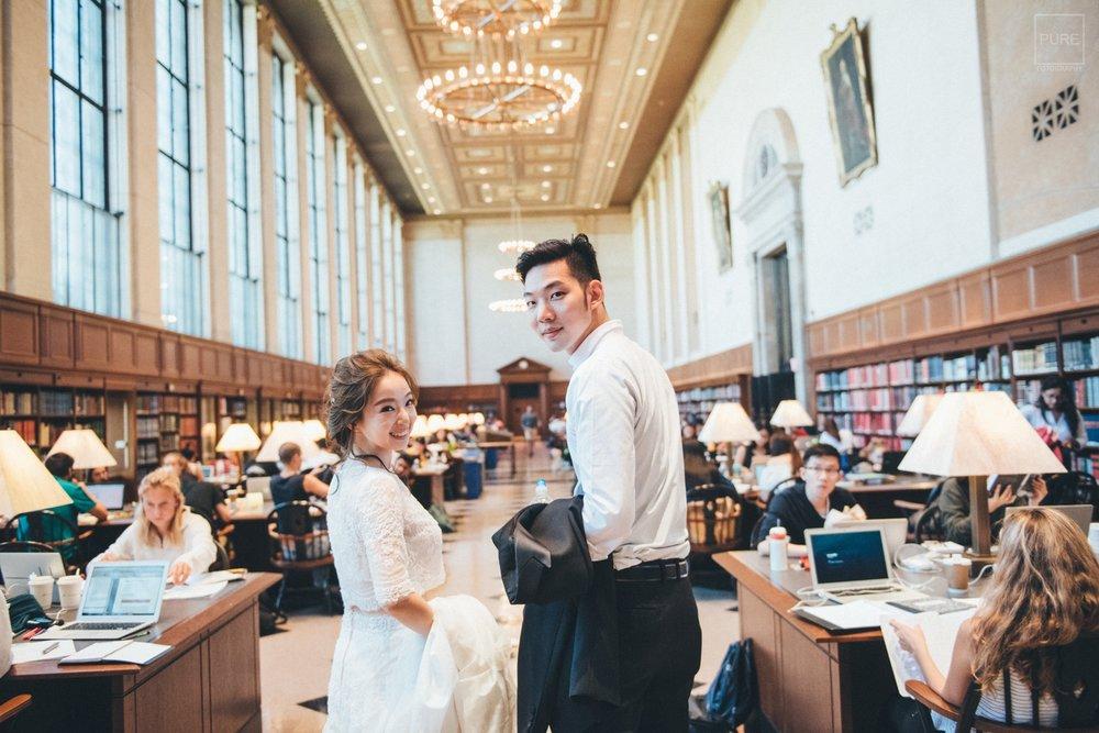 圖書館婚紗攝影