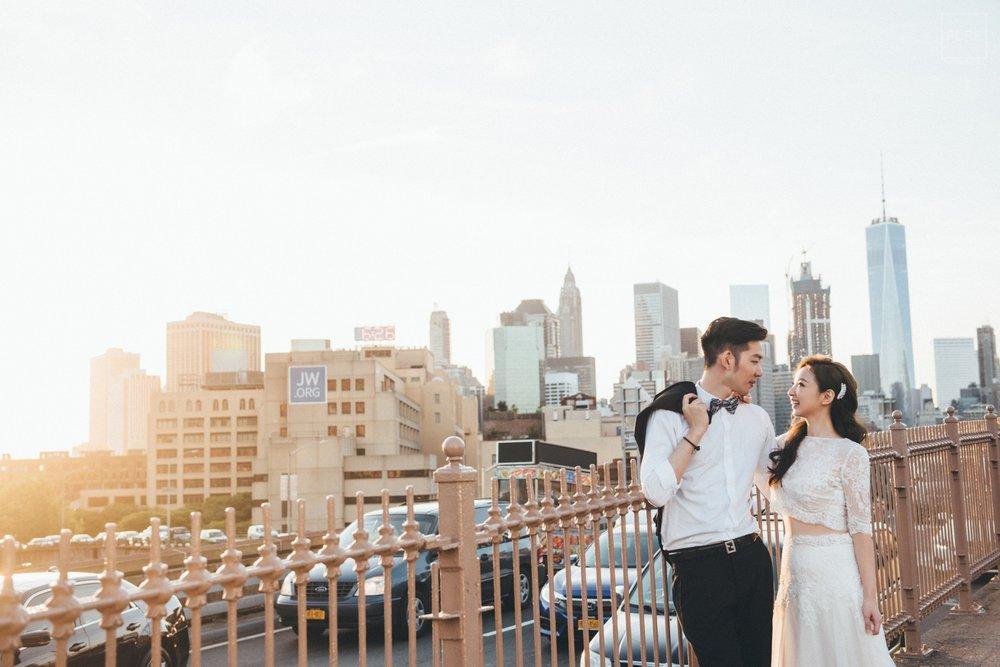 婚紗景點布魯克林大橋