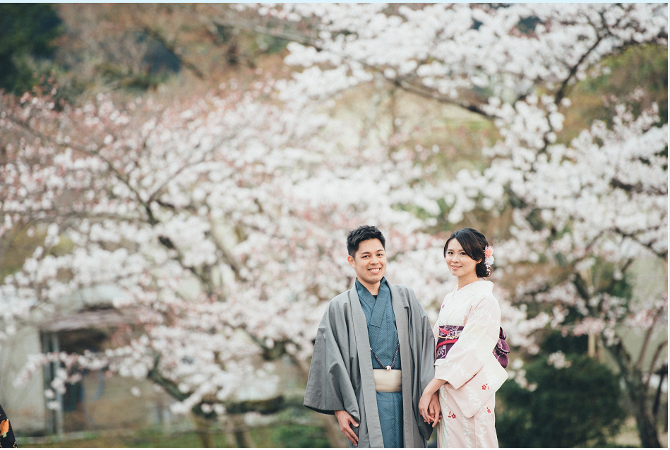 京都和服櫻花海外婚紗