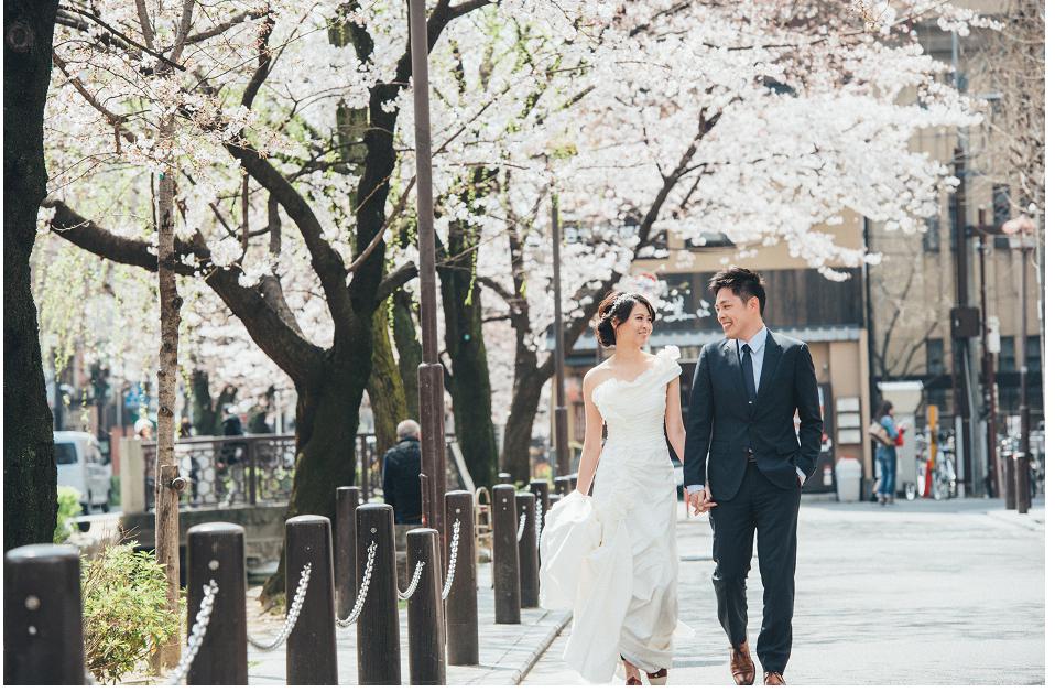 京都櫻花白紗婚紗