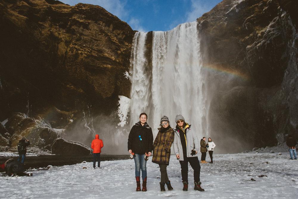 冰島彩虹瀑布Skógafoss