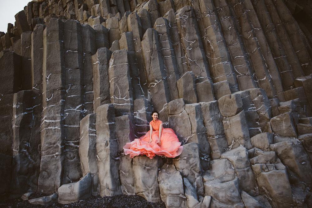 冰島婚紗黑沙灘婚紗