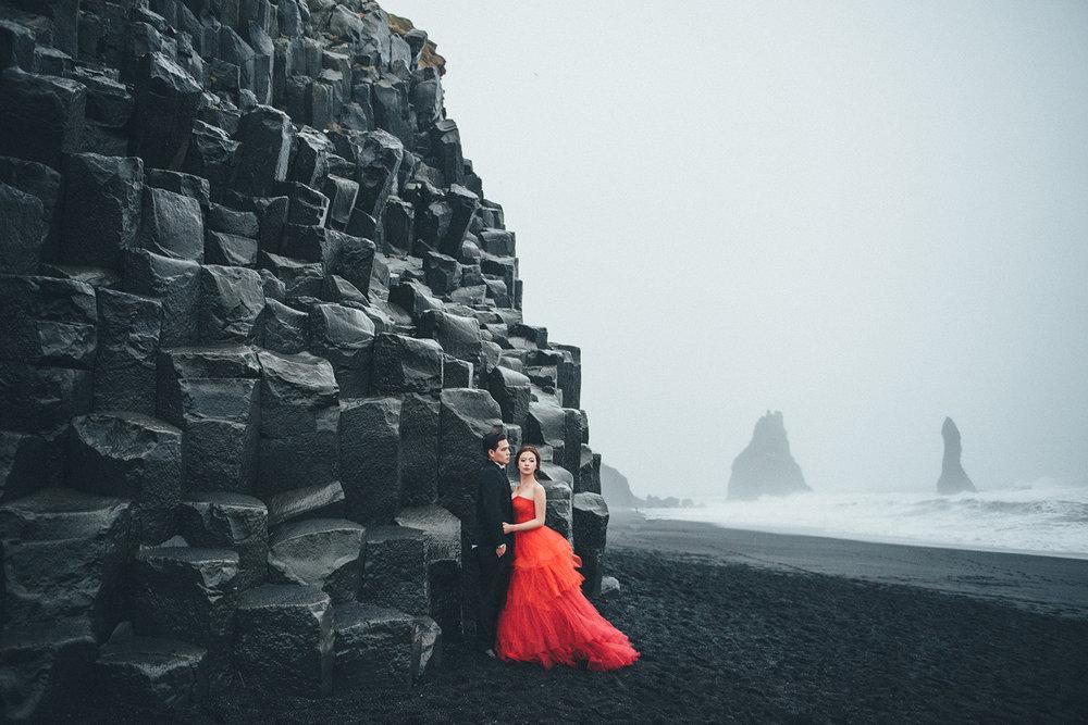冰島黑沙灘海外婚紗