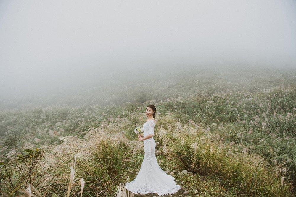 陽明山,芒草,婚紗