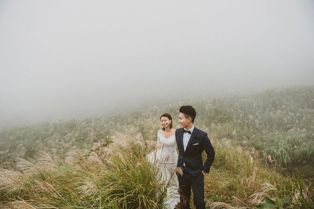 台北,陽明山,芒草,自助婚紗