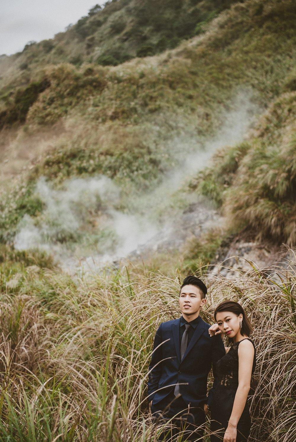 陽明山,黑禮服,婚紗