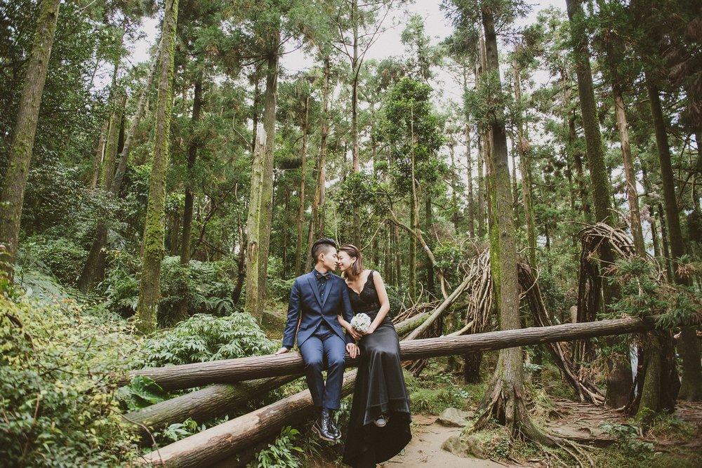 陽明山,黑森林,黑禮服,婚紗
