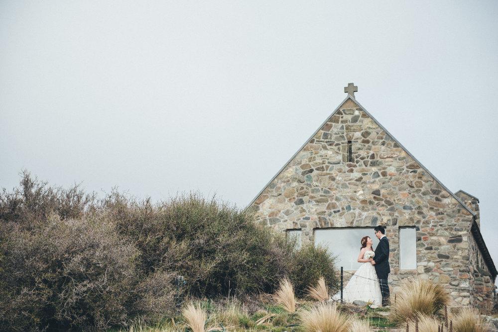 紐西蘭海外婚紗,牧羊人教堂婚紗拍攝