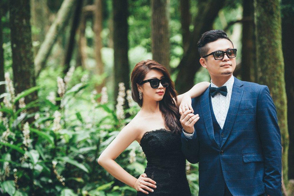 黑森林,黑禮服,婚紗拍攝,墨鏡