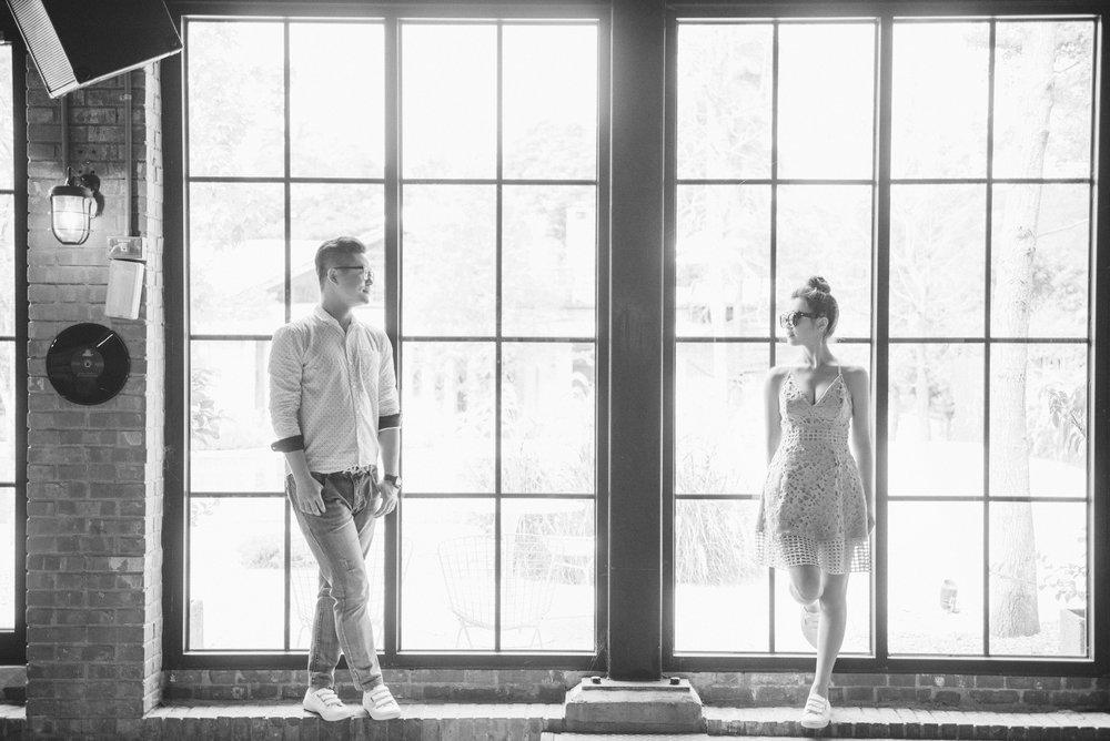 美軍俱樂部,便服,小洋裝,黑白照,婚紗攝影