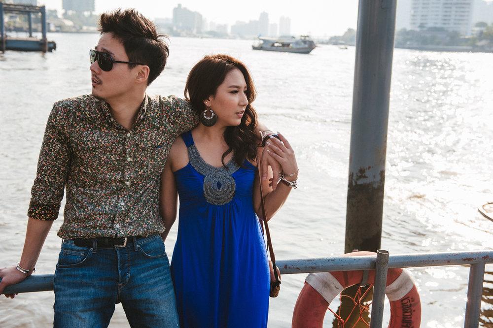 曼谷旅遊婚紗,河邊寫真