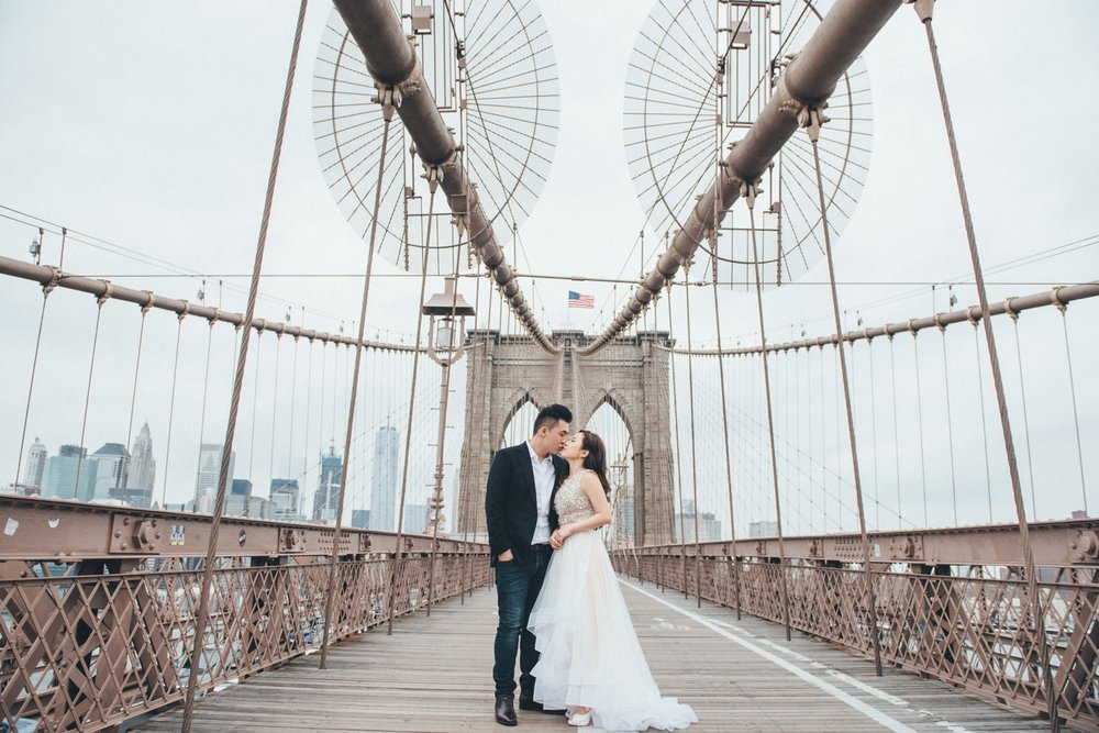 Brooklyn Bridge_紐約婚紗攝影_engagement