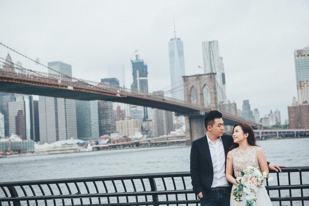 布魯克林大橋婚紗_紐約海外婚紗_PUREFOTO