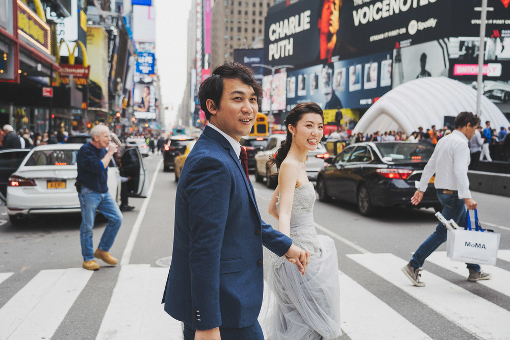 Time Square Prewedding photo