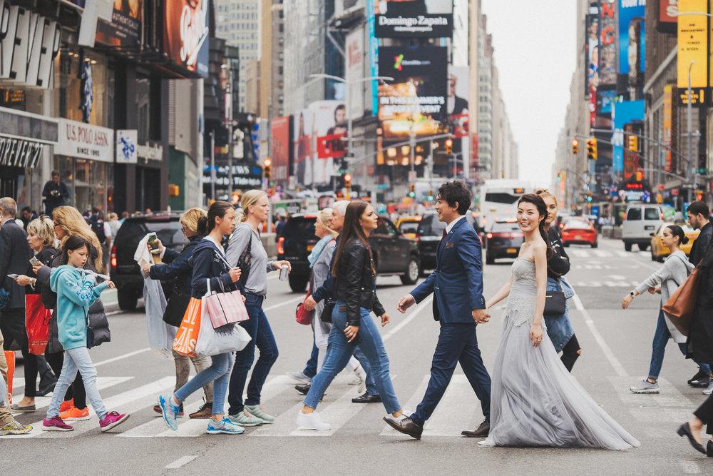 時代廣場紐約婚紗_purefoto