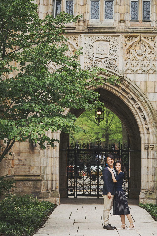 Yale University engagement _ PUREFOTO