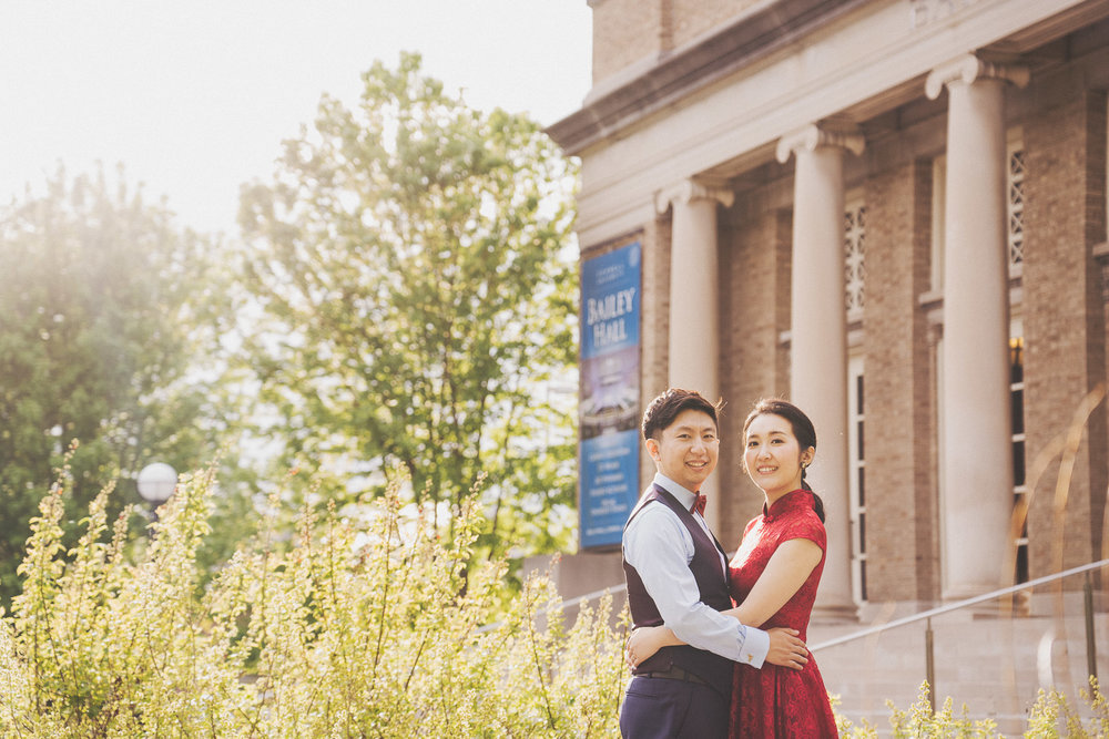 Cornell University engagement photo