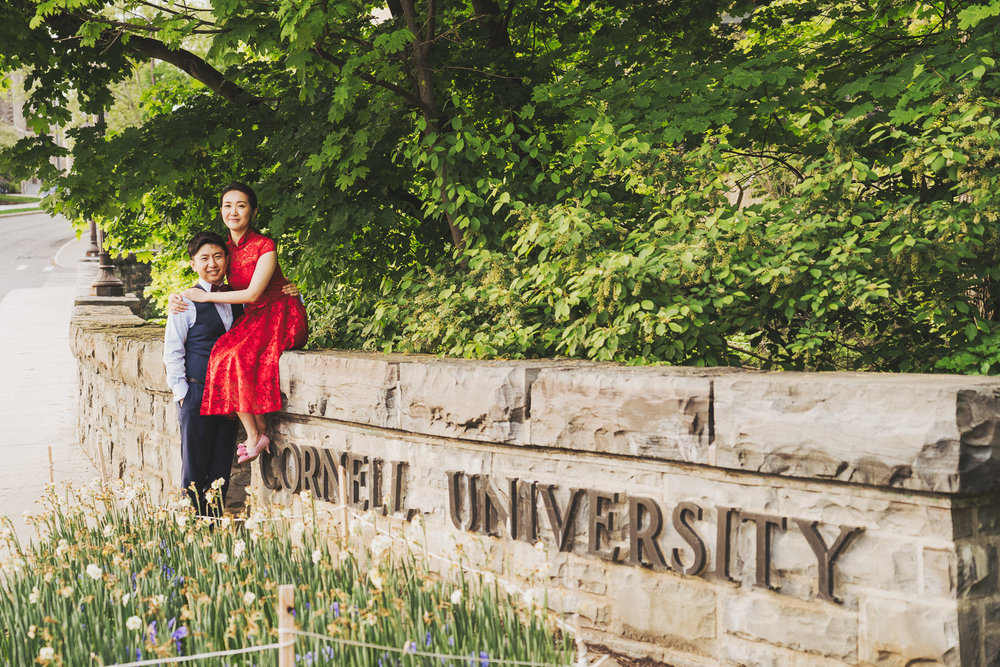 Cornell University engagement photography