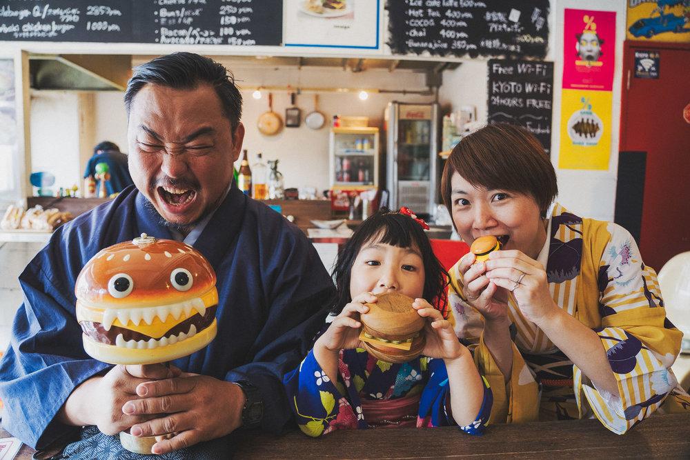 京都全家福和服寫真拍攝,smile hamburger