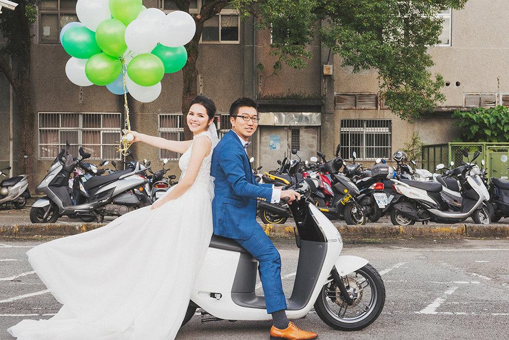 Gogoro機車婚紗拍攝